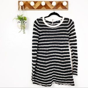 BDG Urban Outfitters | BW Stripe Back Zip Sweater